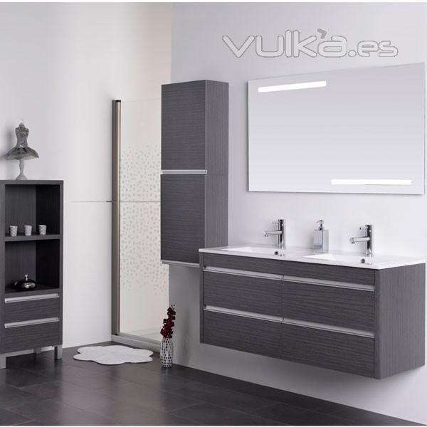 Foto mueble de ba o avina de 100 cm color negro for Muebles de bano negro