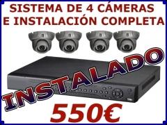 Sistemas completo 2 cámaras e instalación por 430eur sistema de 4 cámaras por 550eur, mejores precio