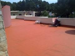 Impermeabilizaci�n de terraza en costa de la calma