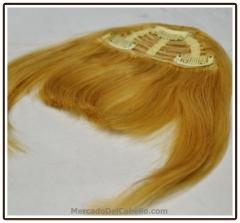 Flequillo de quita y pon - flequillo de cabello natural con clip postizo