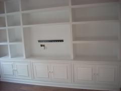 Mueble pladur, carpinteria lacada, color blanco