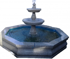 Fuente con estanque