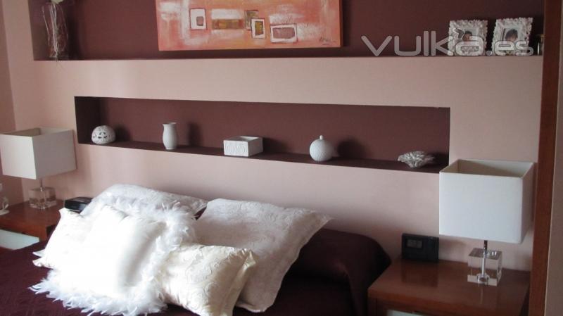Dormitorio con columna decorar tu casa es - Como decorar una columna ...