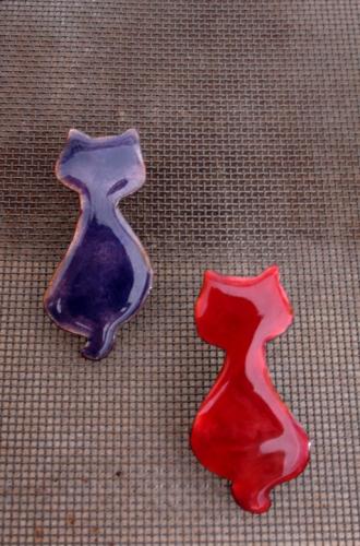 Marapi, broche en forma de gato.