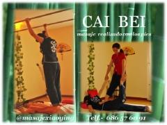 Cai Bei, masaje realizado con los pies.