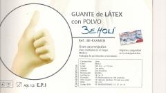 Guante latex calidad con polvo. desde 3,64 eur / estuche 100 u.