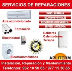 Reparaci�n de aire acondicionado, calderas y electrodom�sticos