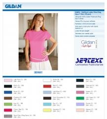Camiseta de mujer gildan soft style 64000l