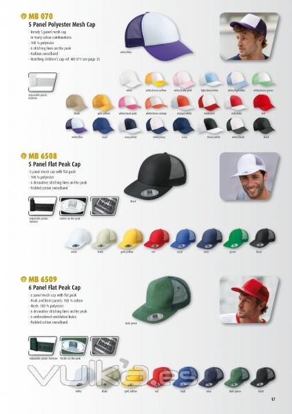 Foto  Catálogo de gorras de camionero en poliester y algodón 6e1fa3b8f0e