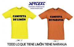 Camiseta de lim�n, camiseta de naranja, todo lo que tiene lim�n tiene naranja.