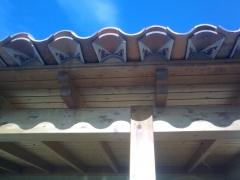 Acabado de teja decorarada