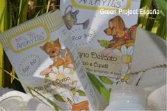 Gama de productos eco bio para la higiene del bebé