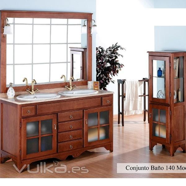 Muebles De Baño Lucena:Foto: Mueble de baño rústico Cruz de 140 cm