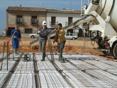Fase de cimentación en obra
