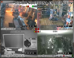 Imagen real nocturna en red remota proyseg videovigilancia