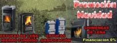 Promoci�n de navidad en ac ib�rica: estufas de le�a, calderas de gasificaci�n, chimeneas, ...