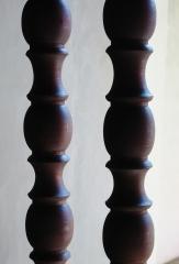 Balaustres, torneados de madera