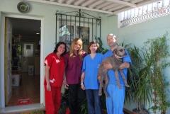El equipo veterinario siempre dispuesto a cuidar de sus mascotas!