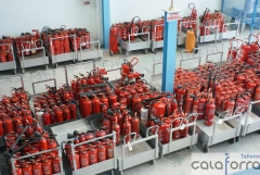 Almac�n de extintores revisados.