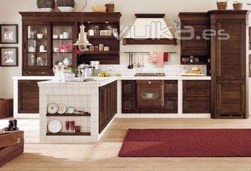 Foto madera maciza rustica eurococinas bricosur - Cocinas rusticas de obra pequenas ...