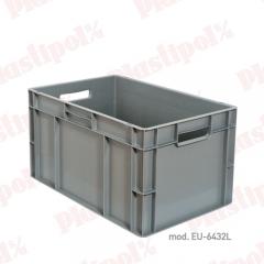 Caja de pl�stico apilable norma europa 600x400 (ref. eu-6432l)