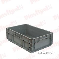 Caja de pl�stico apilable norma europa 600x400, fondo reforzado (ref. eu-6417lfr)