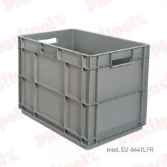 Caja de pl�stico apilable norma europa 600x400, fondo reforzado (ref. eu-6441lfr)