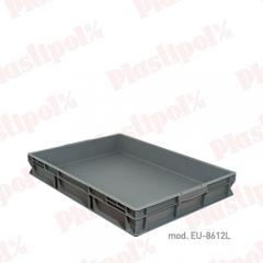 Caja de pl�stico apilable norma europa 800x600 (ref. eu-8612l)