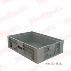 Caja de pl�stico apilable norma europa 800x600 (ref. eu-8622l)