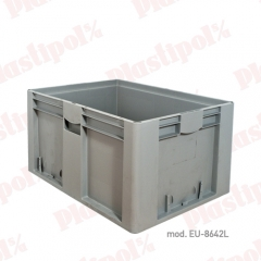 Caja de pl�stico apilable norma europa 800x600 (ref. eu-8642l)