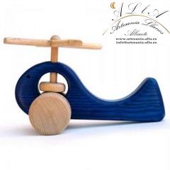 Helic�ptero de madera apto para todas las edades