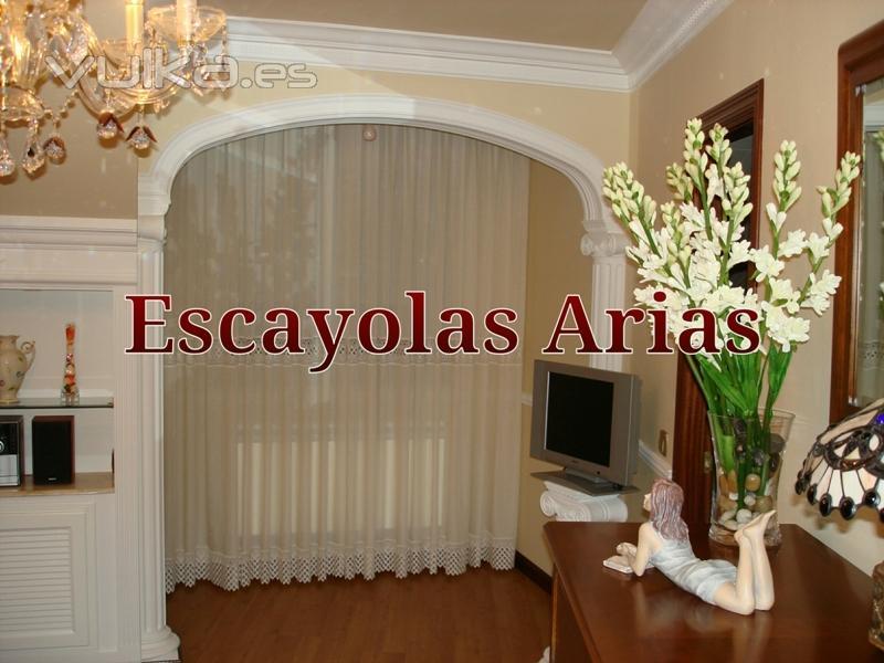 Foto arco de escayola con medias columnas j nicas - Decoracion de escayola ...