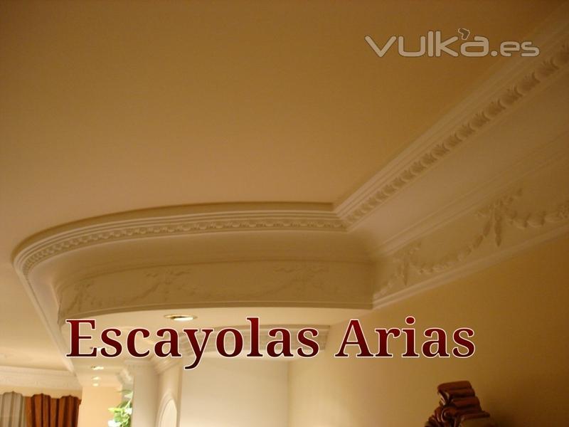 Foto cornisas de escayola a medida escayolas arias - Cornisas de escayola ...