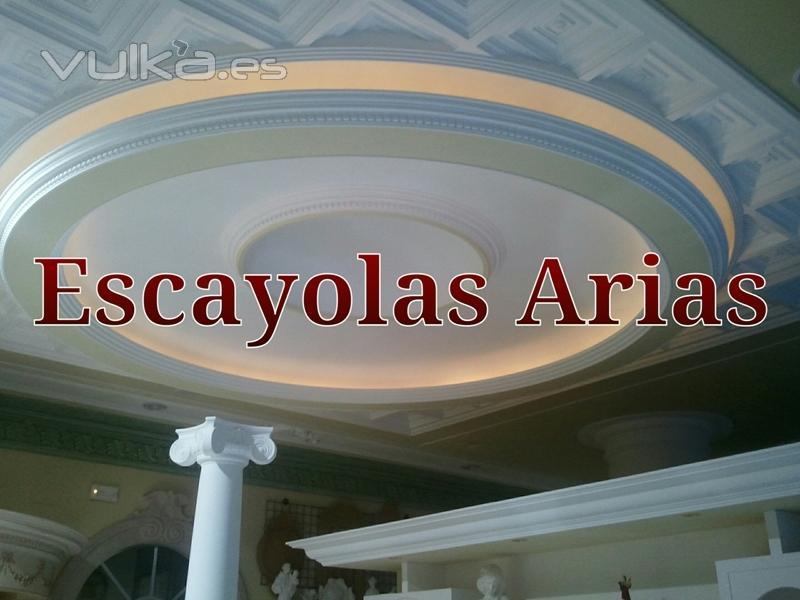 Foto c pula de escayola con luz indirecta decoraci n de for Techo de escayola decoracion simple