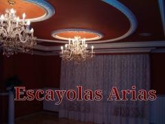 C�pulas de escayola con aros. decoraci�n con escayola