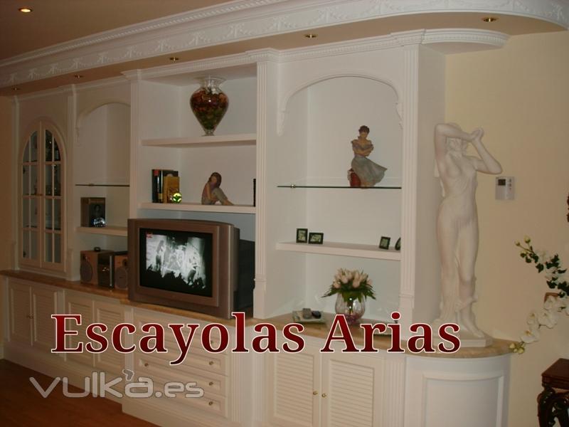 Foto libreria de escayola a medida escayolas arias - Muebles de escayola ...