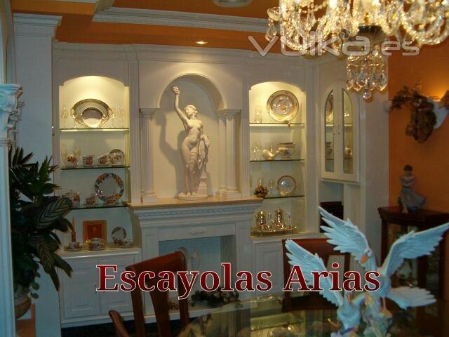 Foto libreria estanteria de escayola a medida decoraci n con escayola - Estanterias de escayola ...