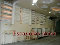 Escayolas arias. cornisas, luz indirecta, c�pulas, columnas ...
