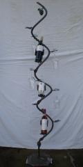 Escultura botellero , fabricaci�n y dise�o propio , lacado al horno en cualquier color carta ral.