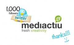 Nuestro estudio de dise�o gr�fico ya tiene 1000 seguidores en twitter!!!