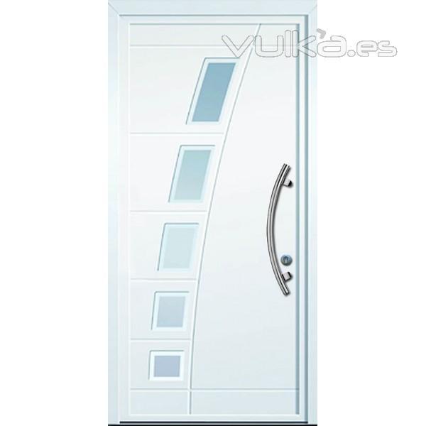 Foto puertas de seguridad modernas for Puertas en aluminio modernas