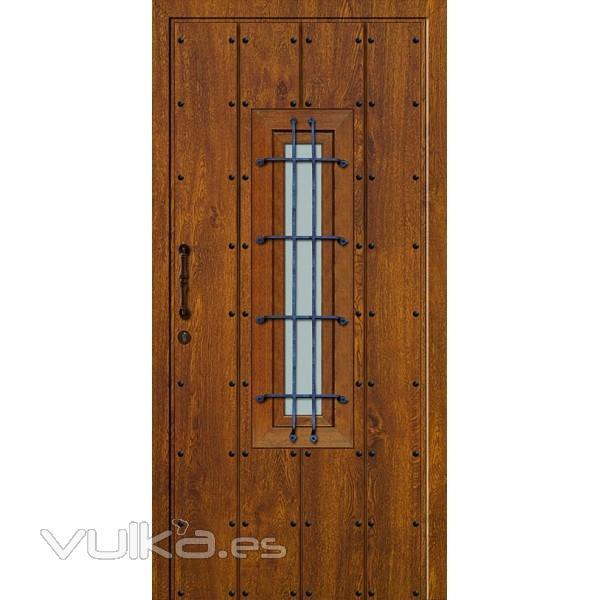 Foto puertas de seguriad r sticas con textura for Puertas rusticas de aluminio