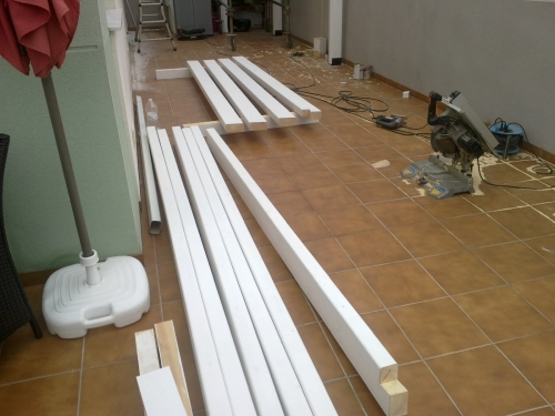 montaje pergola de madera