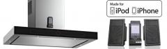 Conoces nuestra campana de teka con soporte para Iphone o Ipad. Tu cocina y de tu mejor música