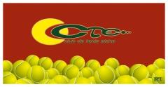 Toalla club de tenis.