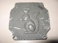 Tapadera de caja de bornes antiguo motor somex, mecano met, motores la ardilla.