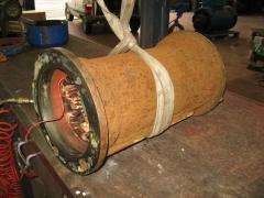 Vista del motor el�ctrico de una bomba de aguas residuales.