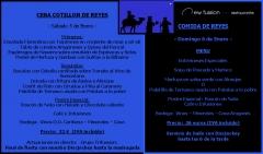 5 de enero cena cotill�n de reyes 32 euros