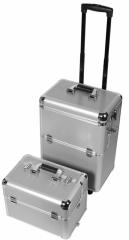 Medidas: 36,6cm x 24,4cm x 70,5 cm Dise�o de u�as: Maleta m�vil Trolley de Aluminio Art de Nail-Des