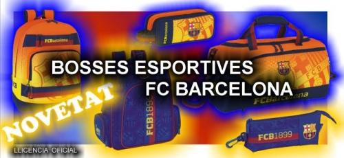 Bosses i motxilles FC Barcelona - Barça. Moxilles escolar, esportives, porta llàpissos, bandolers .